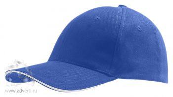 Бейсболка «Buffalo 2», двухцветная, синяя с белым