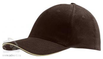 Бейсболка «Buffalo 2», двухцветная, коричневая с бежевым