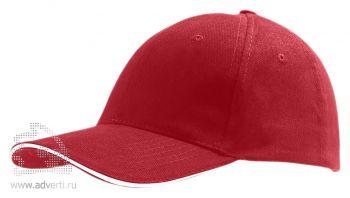 Бейсболка «Buffalo 2», двухцветная, красная с белым