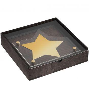 Награда «Asteri», золотистая, вид сбоку