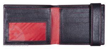 Кошелек «Rich», внутренний дизайн с красной прошивкой