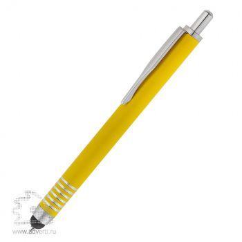 Шариковая ручка Finger со стилусом, желтая