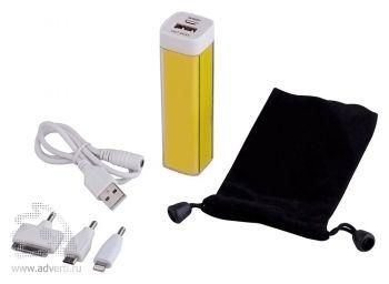 Универсальный аккумулятор «Bar» 2200 mAh, ver.2, USB переходник входя в набор