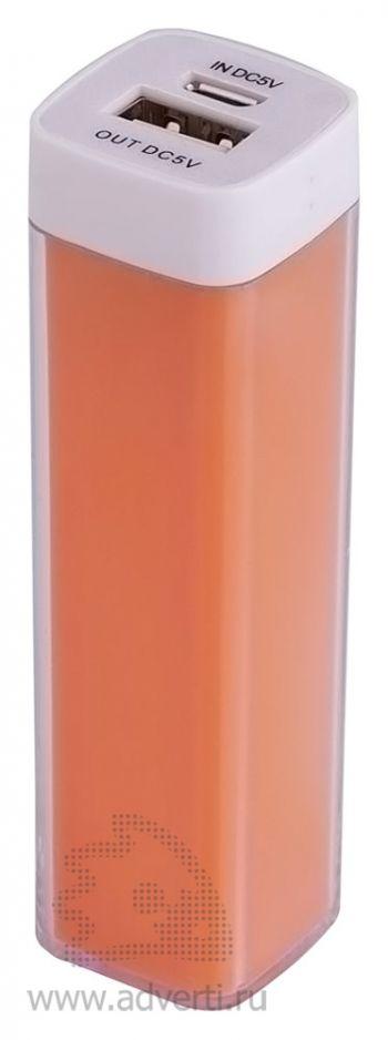 Универсальный аккумулятор «Bar» 2200 mAh, ver.2, оранжевый