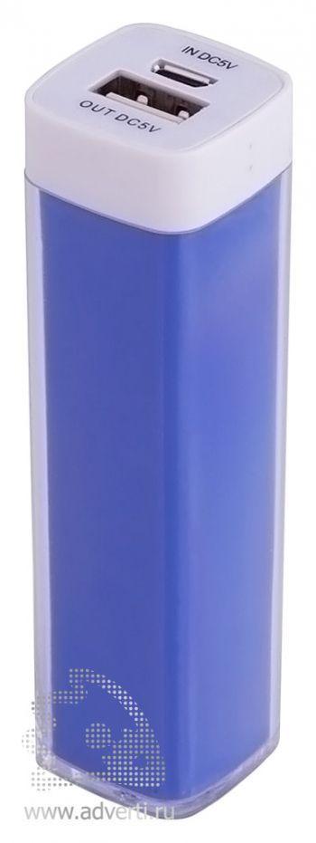 Универсальный аккумулятор «Bar» 2200 mAh, ver.2, синий