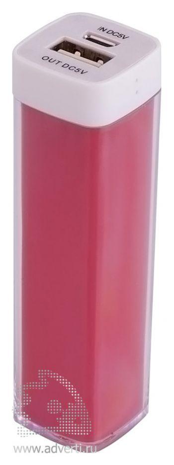 Универсальный аккумулятор «Bar» 2200 mAh, ver.2, красный