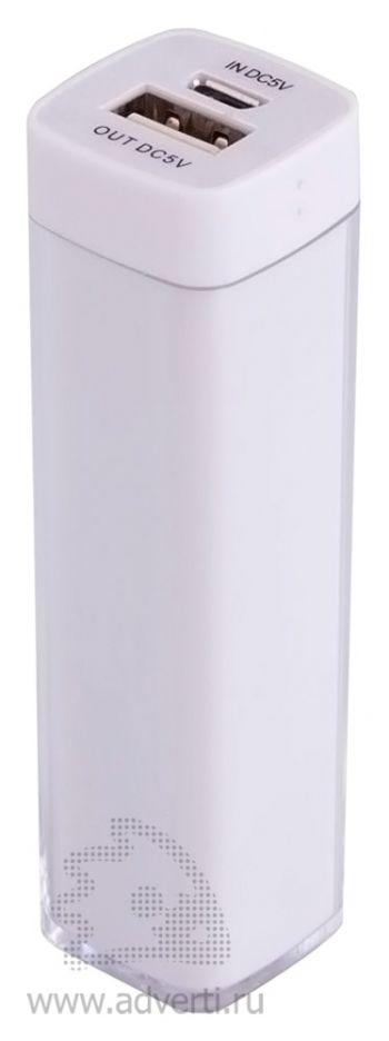Универсальный аккумулятор «Bar» 2200 mAh, ver.2, белый