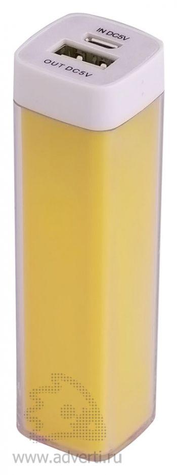 Универсальный аккумулятор «Bar» 2200 mAh, ver.2, желтый