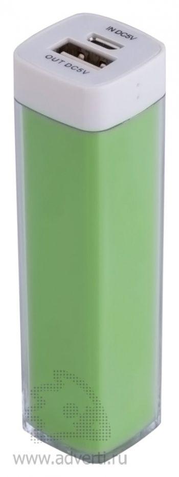Универсальный аккумулятор «Bar» 2200 mAh, ver.2, зеленый
