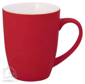 Кружка «Good morning» c прорезиненным покрытием, красная