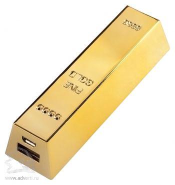 Универсальный внешний аккумулятор «Gold» 2600 mAh