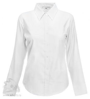 Рубашка «Ladies Oxford Long Sleeve Shirt», женская, белая