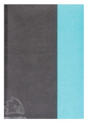 Ежедневник «Parigina», Avanzo Daziaro, серый/бирюза, датированный