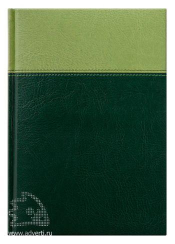 Ежедневник «Milano», Avanzo Daziaro, зеленый/темно-зеленый