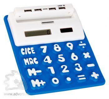 Калькулятор гибкий «Математик», USB порт