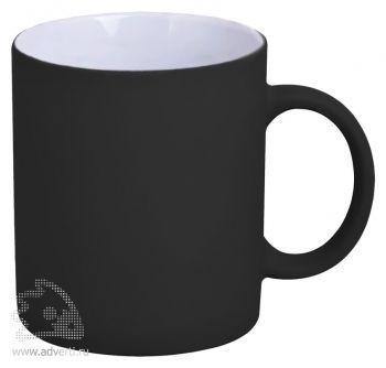 Кружка «Promo» c прорезиненным покрытием, черная