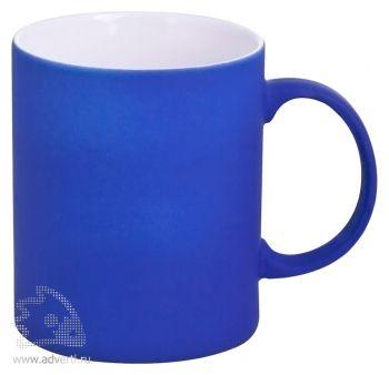 Кружка «Promo» c прорезиненным покрытием, синяя