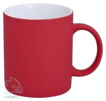Кружка «Promo» c прорезиненным покрытием, красная