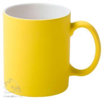 Кружка «Promo» c прорезиненным покрытием, желтая