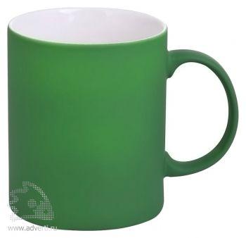 Кружка «Promo» c прорезиненным покрытием, зеленая