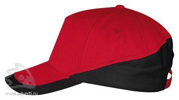 Бейсболка «Booster 2», красная с черным