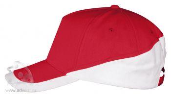 Бейсболка «Booster», красная с белым