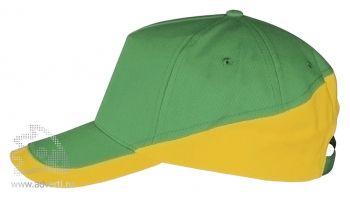 Бейсболка «Booster 2», зеленая с желтым