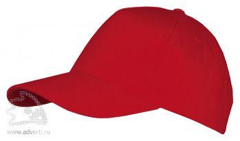 Бейсболка «Long beach», красная