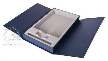 Коробка подарочная под набор, синяя, открытая