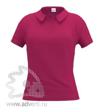 Рубашка поло «Stan Women», женская, бордовая