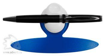Держатель для ручки и визиток с магнитом, синий