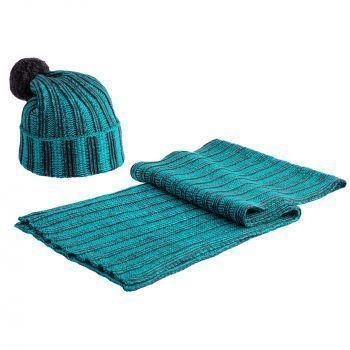 Набор «Green Blues», шапка и шарф