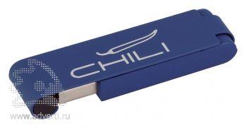 Флеш-карта «Case» Chili, темно-синяя