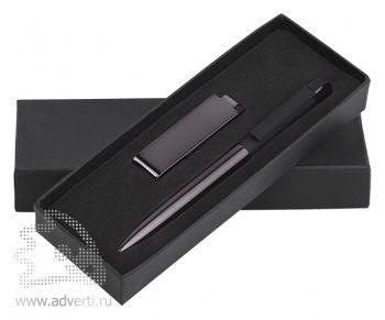 Набор: ручка «Jupiter» + флеш-карта «Case» 8 Гб в футляре, черный