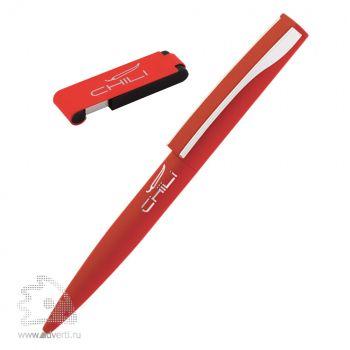 Набор: ручка «Dial» + флеш-карта «Case» 8 Гб в футляре, красный