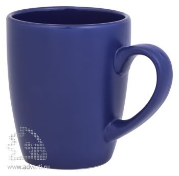 Кружка матовая снаружи, глянцевая внутри, синяя