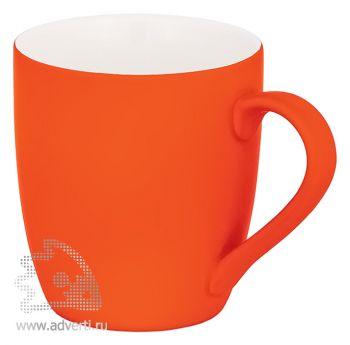 Кружка конусная с прорезиненной поверхностью, оранжевая