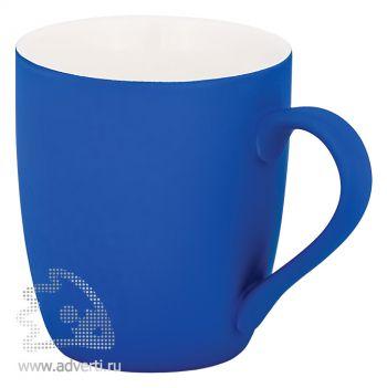 Кружка конусная с прорезиненной поверхностью, синяя