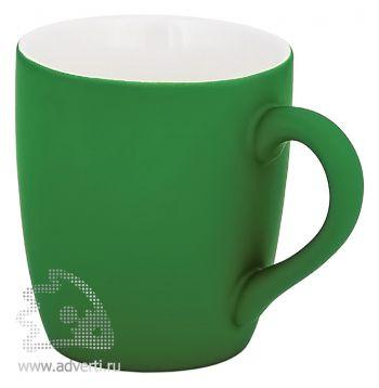 Кружка конусная с прорезиненной поверхностью, зеленая