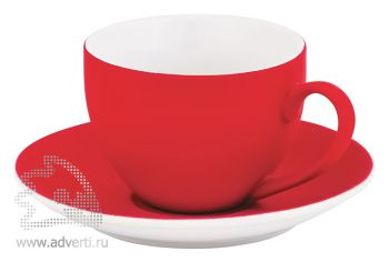Чайная пара «Манящее прикосновение», красная