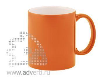 Кружка керамическая для гравировки, оранжевая