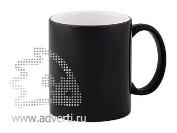 Кружка керамическая для гравировки, черная