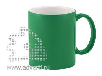 Кружка керамическая для гравировки, зеленая