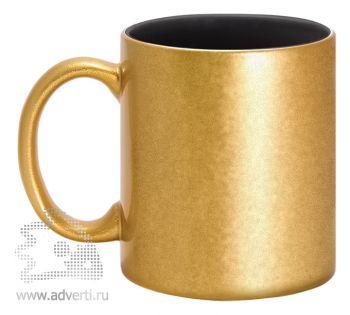 Кружка керамическая для гравировки, золотая