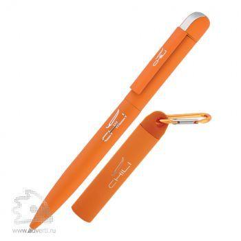 Набор: ручка «Jupiter» + источник энергии «Minty» в футляре, Chili, оранжевый