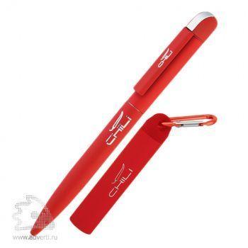 Набор: ручка «Jupiter» + источник энергии «Minty» в футляре, Chili, красный