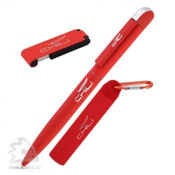 """Набор ручка «Jupiter» + источник энергии «Minty&raquo + флеш-карта  """"Case"""" 8 Гб в футляре, Chili, красный"""
