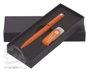 Набор: ручка «Jupiter» + флеш-карта, оранжевый