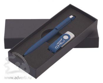 Набор: ручка «Jupiter» + флеш-карта, темно-синий