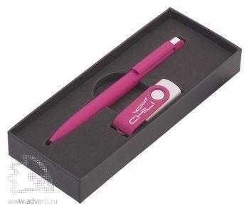 Набор: ручка «Jupiter» + флеш-карта, розовый